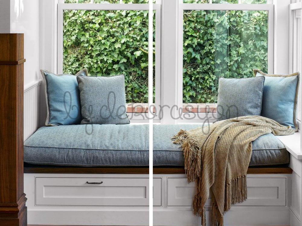 Pencere önü için hem depolama amaçlı kullanmak hem de koltuk gibi değerlendirmek isteyenler için fikirler.
