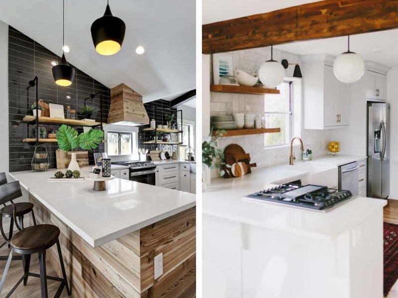Modern ve renkli bir mutfak
