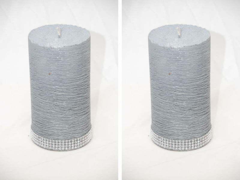 Gri & Gümüş Renkli Mum Etkisi