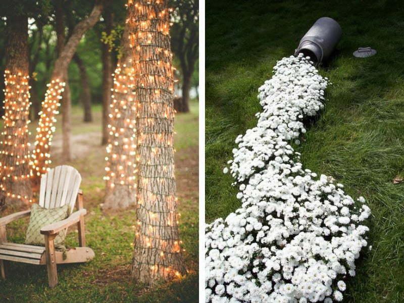 Ağaçlarınızı ışıklandırmak da bahçenize hoş bir hava katacaktır.