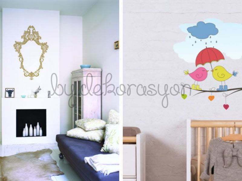 Duvar stickerları evlerimizi süsler
