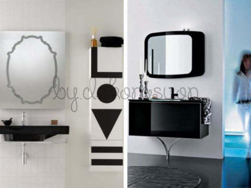 Siyahında banyo tasarımları arasında kullanılması doğru mobilya ve aksesuarın seçilmesi ile muhteşem bir banyo modeline dönüşebilir.