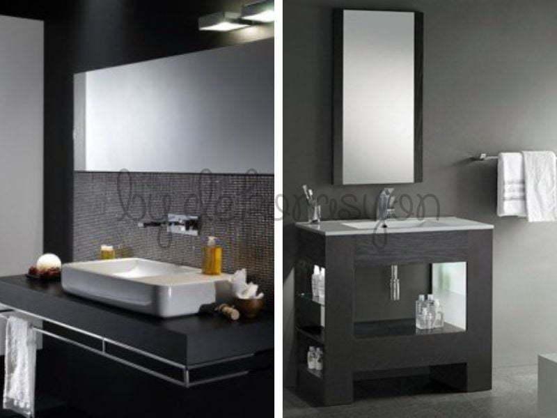 Siyah ve beyaz banyo tasarımları karşınıza farklı şekillerde bir çok yerde çıkabilir.