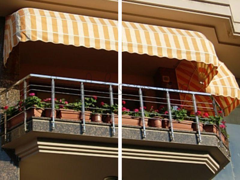 Balkonlar ve teraslar için ise şemsiyeden daha çok kullanışlı, rengarenk ve farklı şekillerdeki tenteleri önerebiliriz.