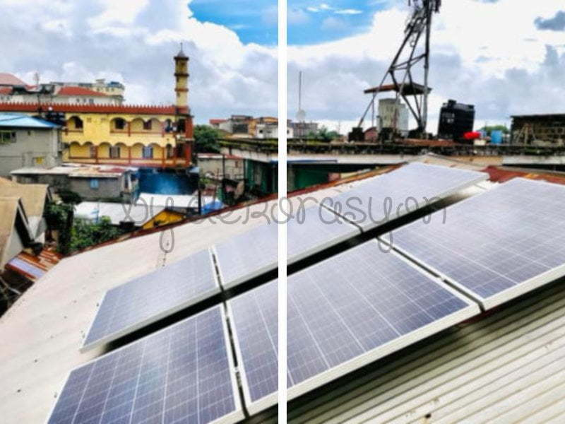 Solar enerji ampullerinin yerleştirildiği lambalar