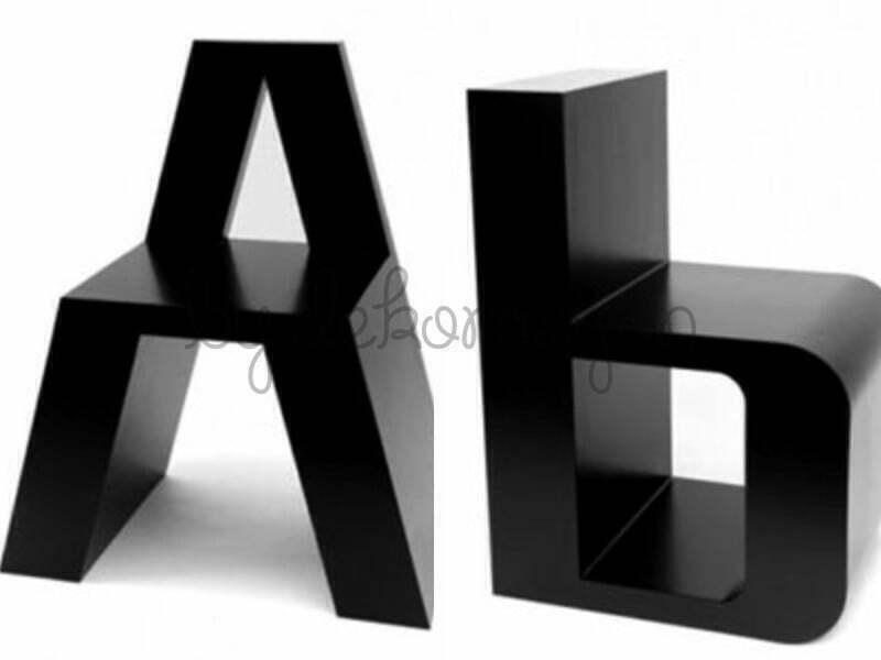Alfabenin her harfinden bir sandalye yapmak