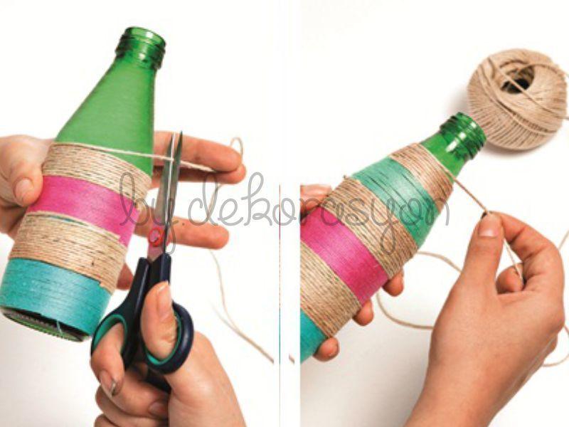 İpli şişeler nasıl yapılır;