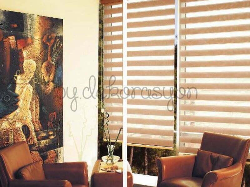 Stor perdeler sade bir şıklık yaratırken fon perdeler klasik mobilyaları daha da dikkat çekici yapabiliyor.