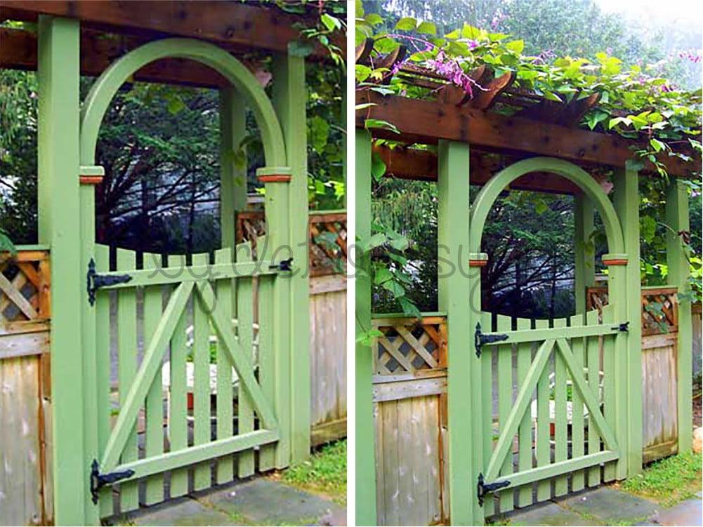 Otantik Yeşil Ahşap Kapı