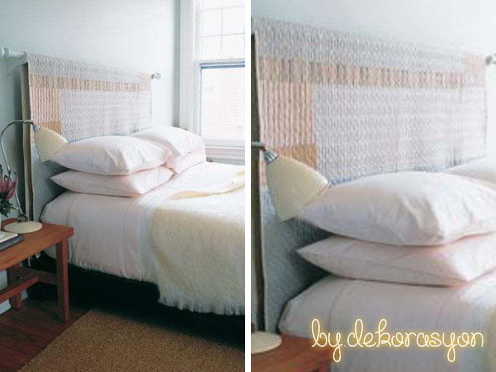 Gözünüze hoş görünmeyen yatak başlığını gizlemek